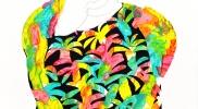 「ソテツ柄のシャツ」 キャンバスにアクリル、鉛筆  726mm×605mm  2015年