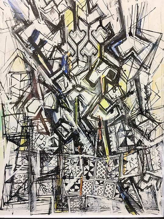 2000年頃(画用紙、水彩色鉛筆、木炭、インキ)A5