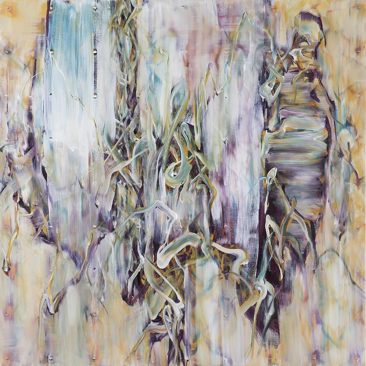 『茫揺('15-Oct.)』キャンバス、油彩 162cm×162cm 2015年