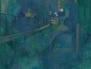 「Magic Hour ー逢魔時ー071」顔料、アクリル、岩絵の具 キャンバス 27.3x220cm F3 2016年