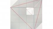2016 矩形の斜線(対角線)P-01 370×370㎜ キャンバス・アクリル