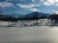 今朝は氷点下。いい景色です。