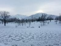 雪見展2日目。八海山からの朝日です。