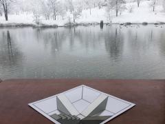 3月10日公開「雪の錯覚すべり台」模型です。