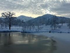 今朝の外気温は−6度、久しぶりの八海山です。
