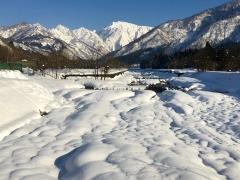 水無川上流から見た越後駒ヶ岳です。