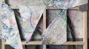 Background、有機ELライト、アクリル板、アクリル、キャンバス、ベニア、木枠、2016年