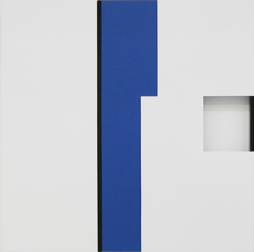 Untitled(blue) 2008年 60×60×5cm wood,lacquer