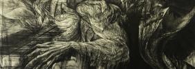 「不帰ノ嶮」銅版画(技法:エッチング、アクアチント)縦856×横606㎜ 2017年