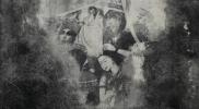 嬾惰棘女電気仕懸け No.4 パネル 硫酸カルシウム シルクスクリーン アクリル 岩絵具 オイルバー 蜜蝋 墨 1680×1150mm 2015年