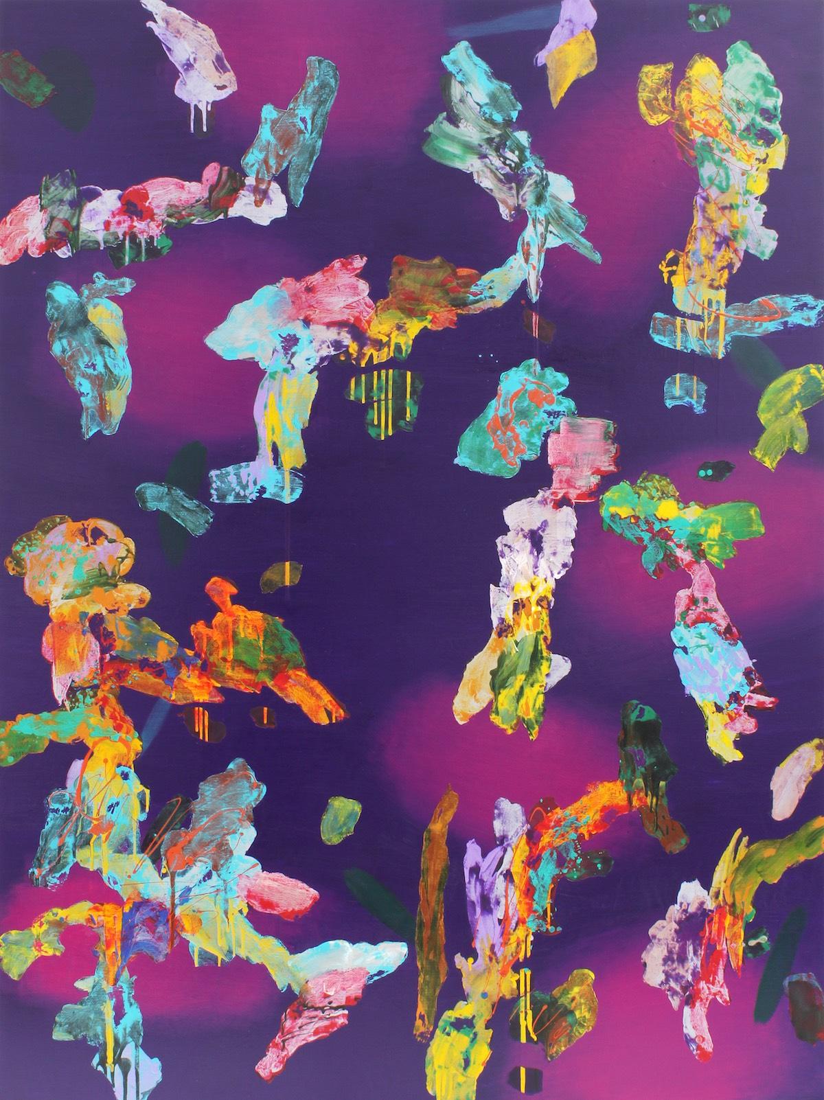 ≪海へ-09F≫ キャンバスにアクリル、油彩、蜜蝋 259×194cm 2009年