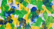 ≪絵画の襞Ⅱ 14-F200-1≫ キャンバスにアクリル、油彩、蜜蝋 259×194cm 2014年