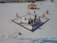 雪の錯覚すべり台を披露しました。